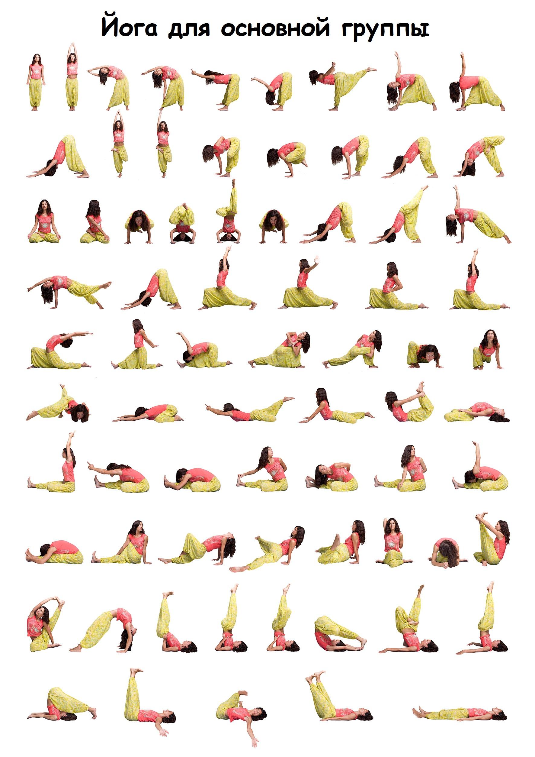 Комплекс упражнений для растяжки с картинками